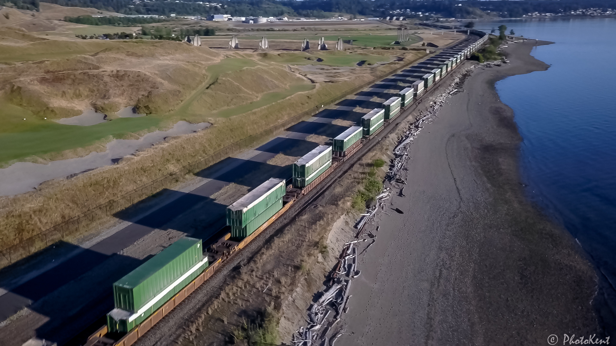Southbound container train